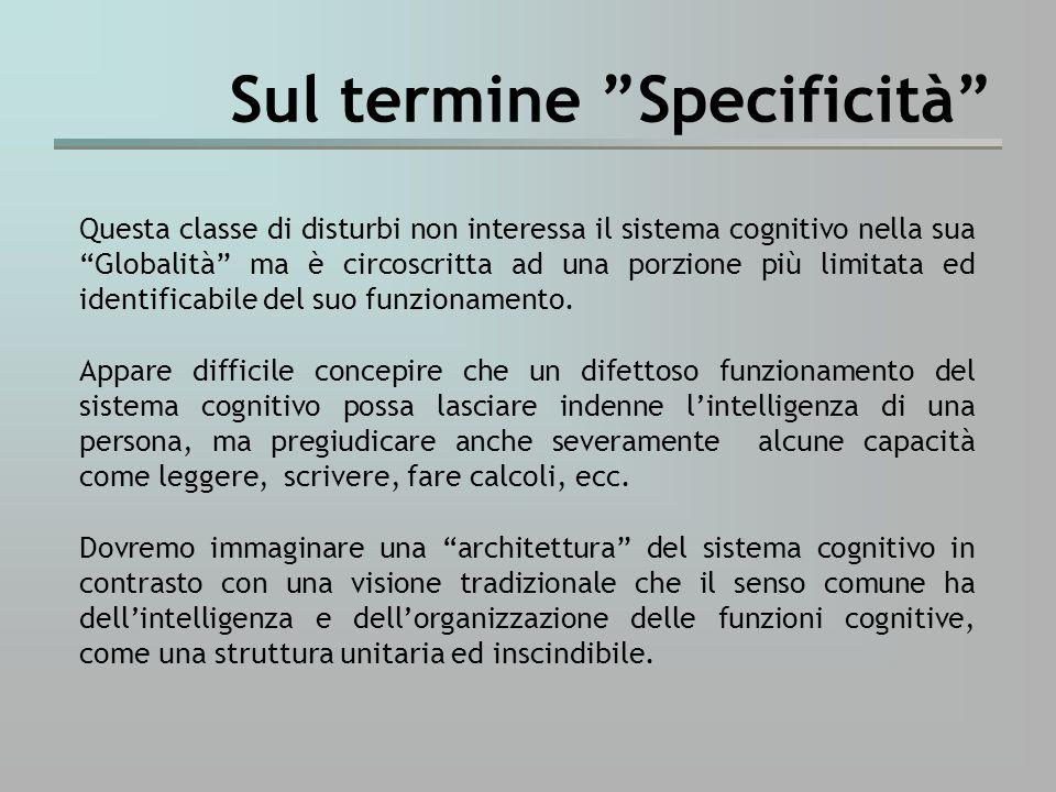 Vi sono numerose evidenze empiriche sulla frazionabilità del sistema cognitivo in vari sottosistemi funzionali specializzati o moduli.