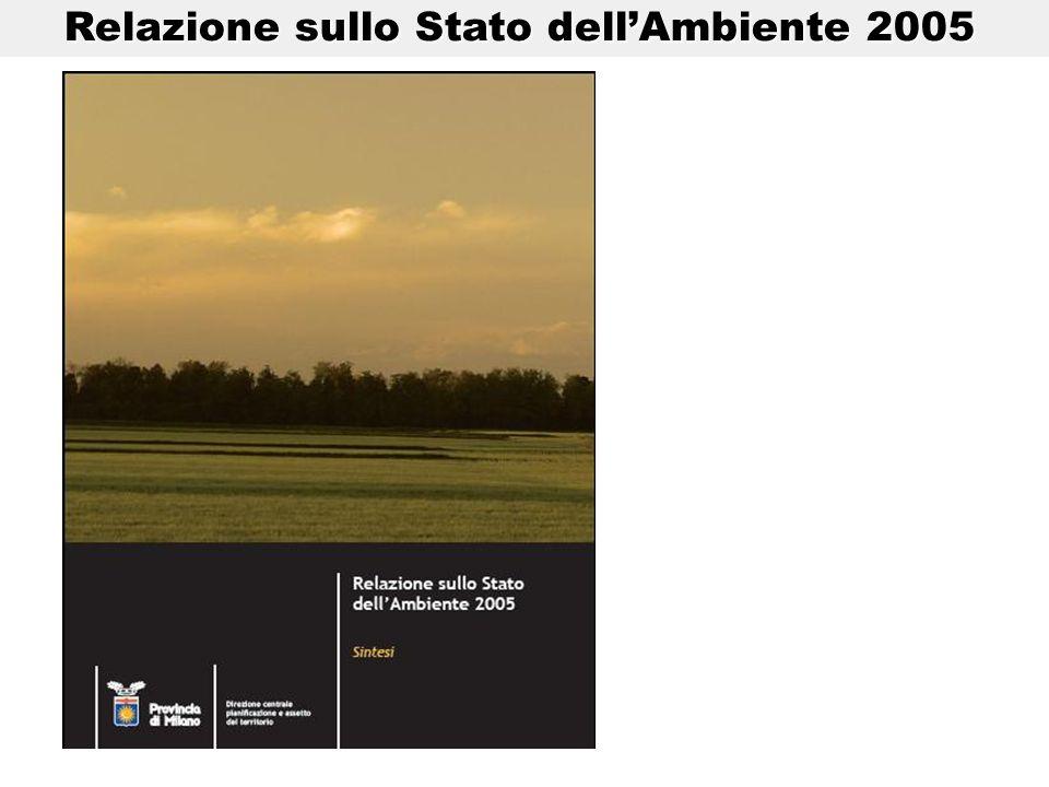 Relazione sullo Stato dellAmbiente 2005 Relazione sullo Stato dellAmbiente 2005