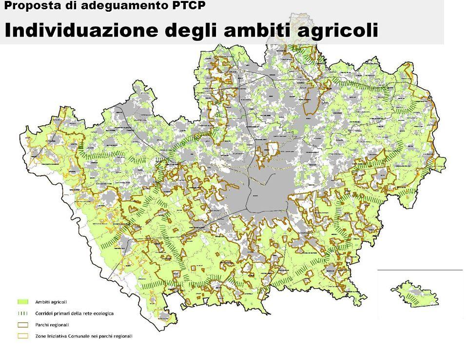 Proposta di adeguamento PTCP Individuazione degli ambiti agricoli