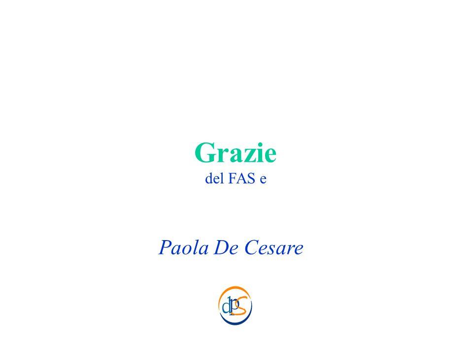 Grazie Paola De Cesare del FAS e