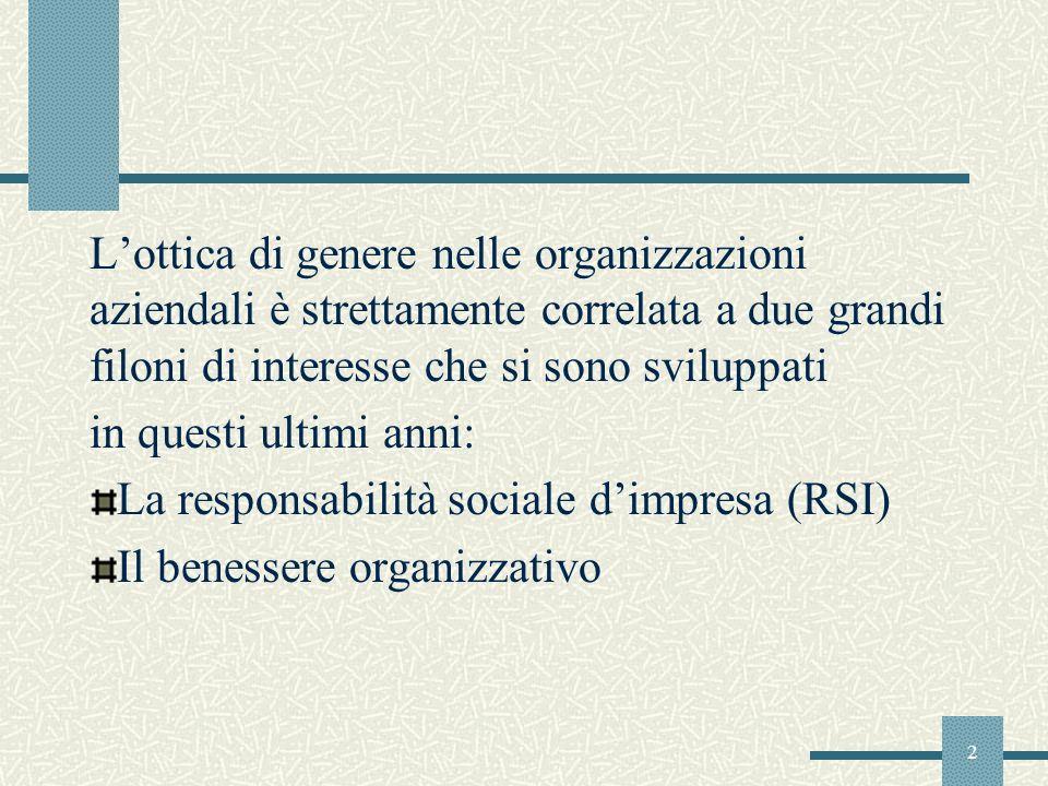 3 La Responsabilità sociale dimpresa Il LibroVerde della Commissione Europea del 2001 la definisce come L integrazione volontaria delle preoccupazioni sociali ed ecologiche delle imprese nelle loro operazioni commerciali e nei loro rapporti con le parti interessate.