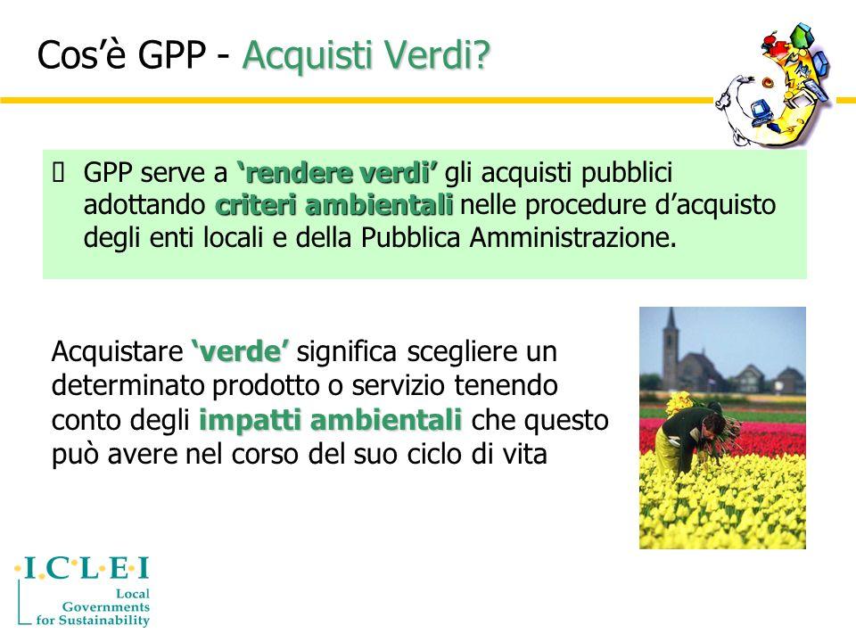 Acquisti Verdi. Cosè GPP - Acquisti Verdi.