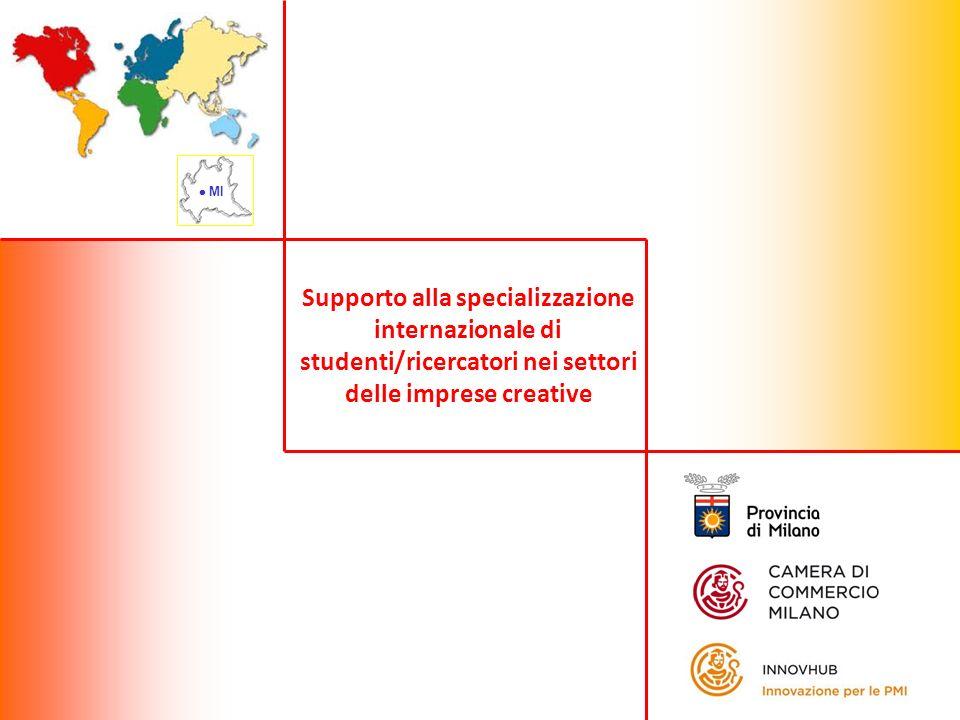 Supporto alla specializzazione internazionale di studenti/ricercatori nei settori delle imprese creative MI