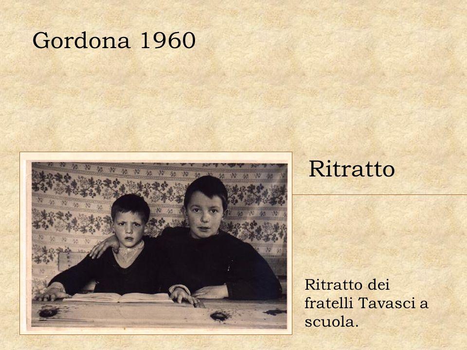 Gordona 1960 Ritratto dei fratelli Tavasci a scuola. Ritratto