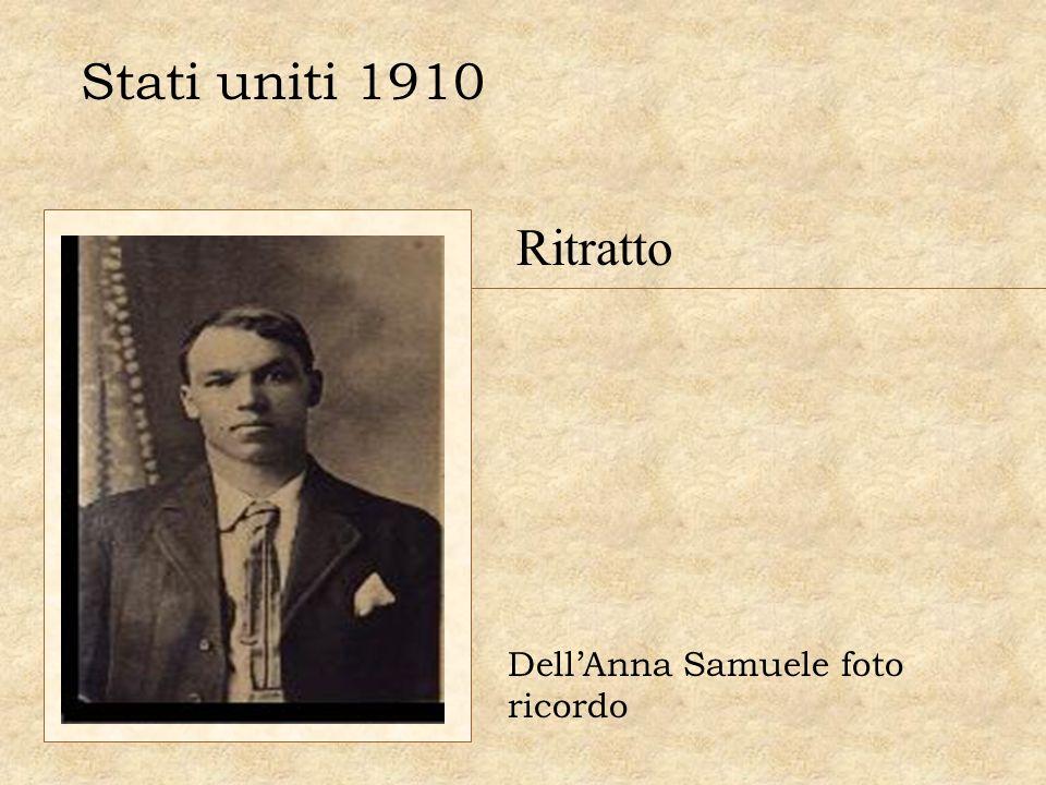 Stati uniti 1910 Ritratto DellAnna Samuele foto ricordo