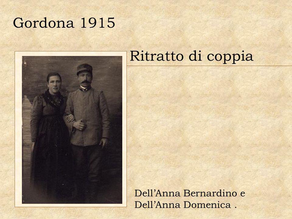 Gordona 1915 Ritratto di coppia DellAnna Bernardino e DellAnna Domenica.
