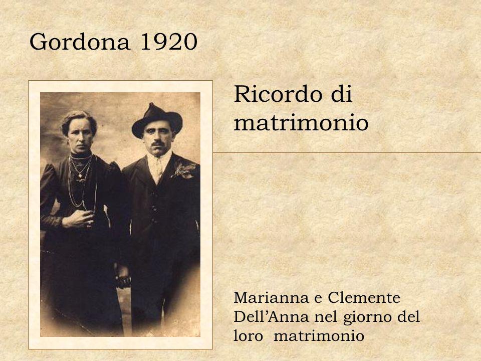 Gordona 1920 Ricordo di matrimonio Marianna e Clemente DellAnna nel giorno del loro matrimonio