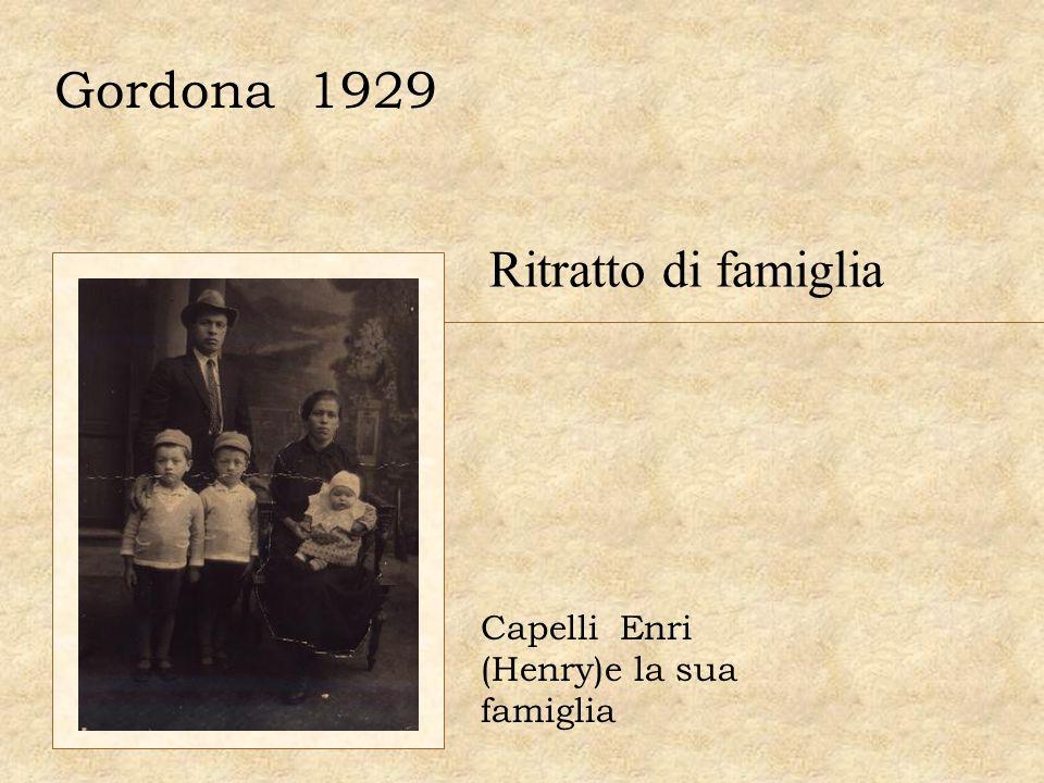 Gordona 1929 Capelli Enri (Henry)e la sua famiglia Ritratto di famiglia