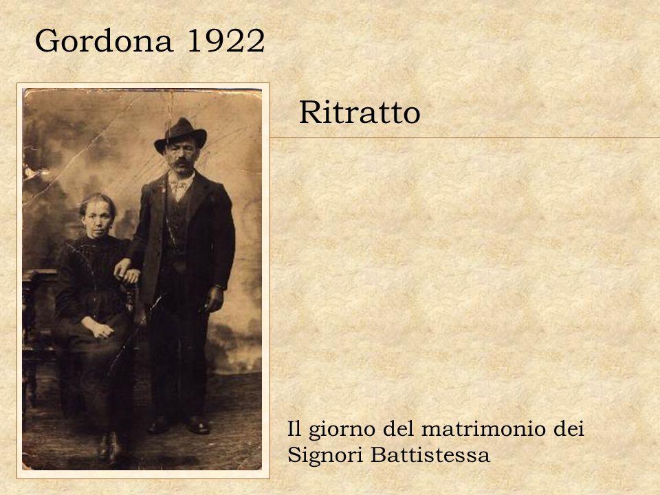 Gordona 1922 Ritratto Il giorno del matrimonio dei Signori Battistessa