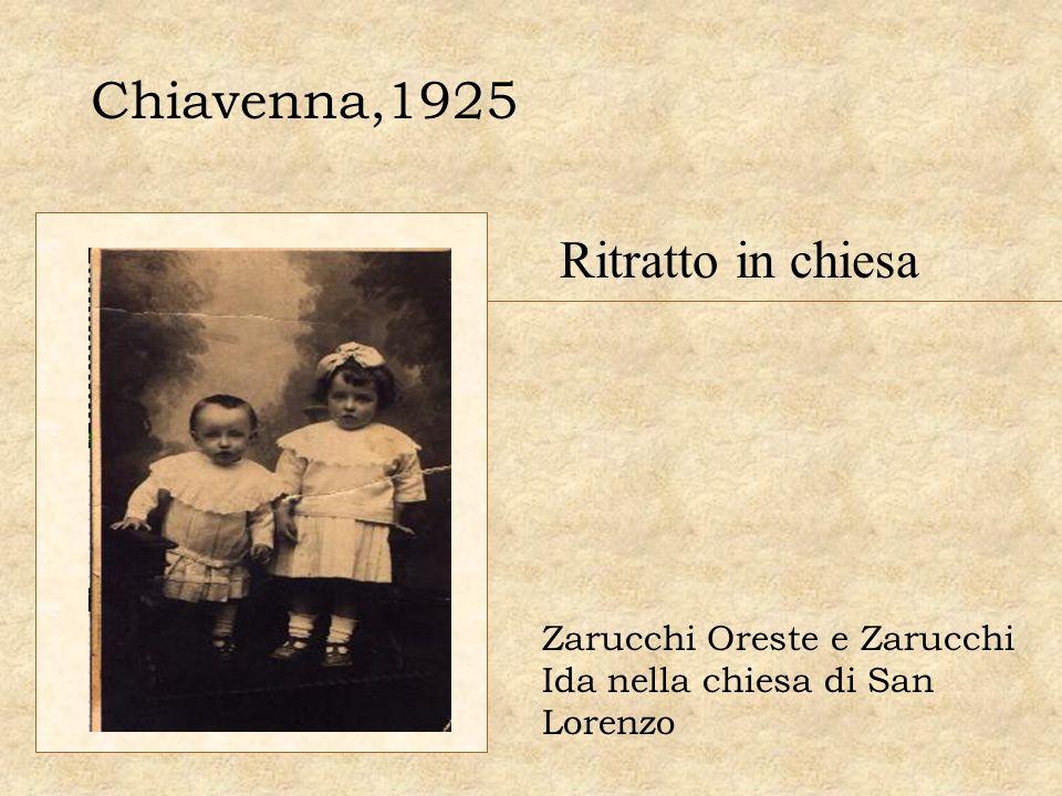 Chiavenna,1925 Ritratto in chiesa Zarucchi Oreste e Zarucchi Ida nella chiesa di San Lorenzo