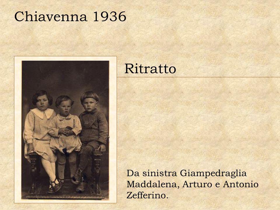 Ritratto Da sinistra Giampedraglia Maddalena, Arturo e Antonio Zefferino. Chiavenna 1936