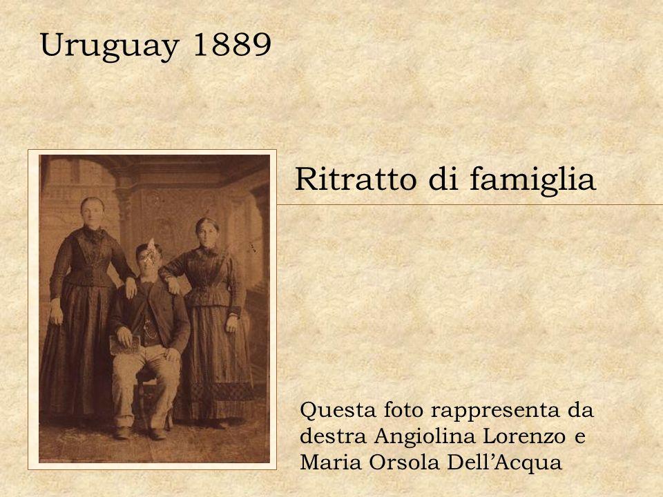 Uruguay 1889 Ritratto di famiglia Questa foto rappresenta da destra Angiolina Lorenzo e Maria Orsola DellAcqua
