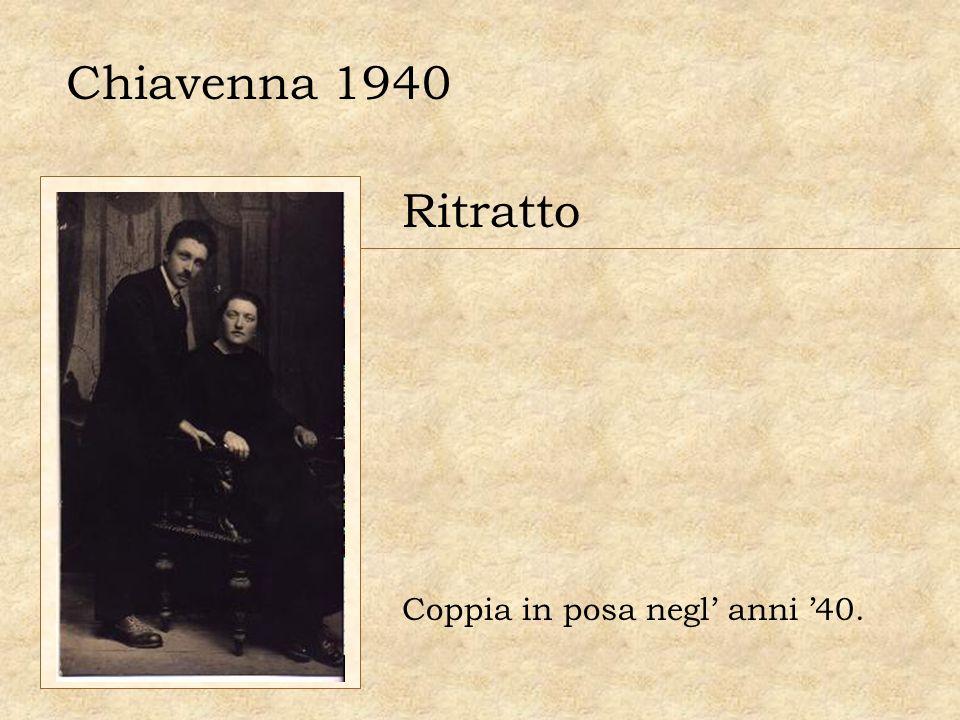 Chiavenna 1940 Ritratto Coppia in posa negl anni 40.