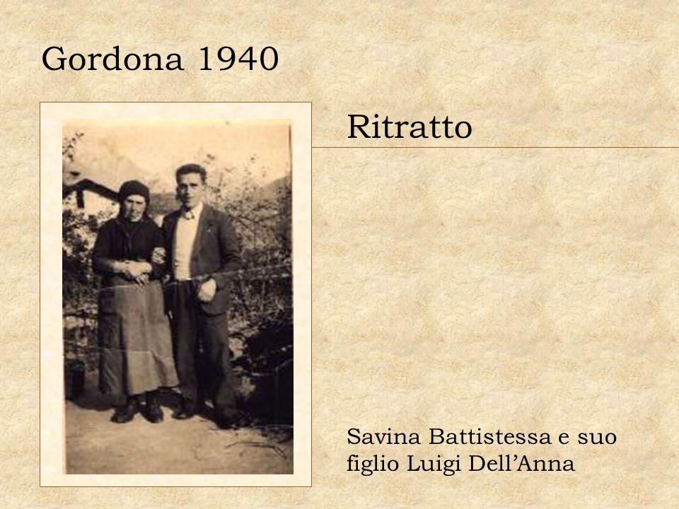 Gordona 1940 Ritratto Savina Battistessa e suo figlio Luigi DellAnna