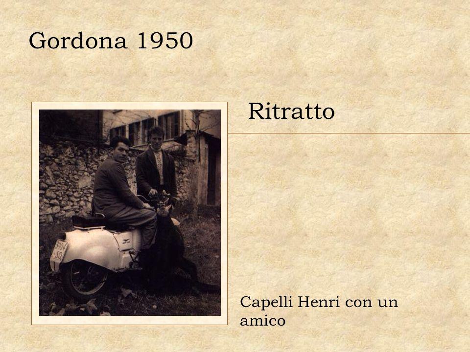 Gordona 1950 Ritratto Capelli Henri con un amico