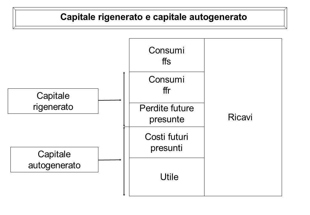 Ricavi Consumi ffs Utile Consumi ffr Perdite future presunte Costi futuri presunti Capitale rigenerato Capitale autogenerato Capitale rigenerato e cap