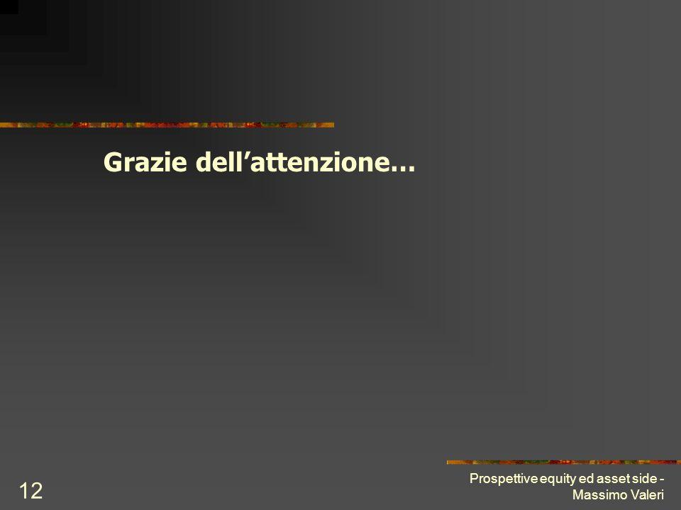Prospettive equity ed asset side - Massimo Valeri 12 Grazie dellattenzione…