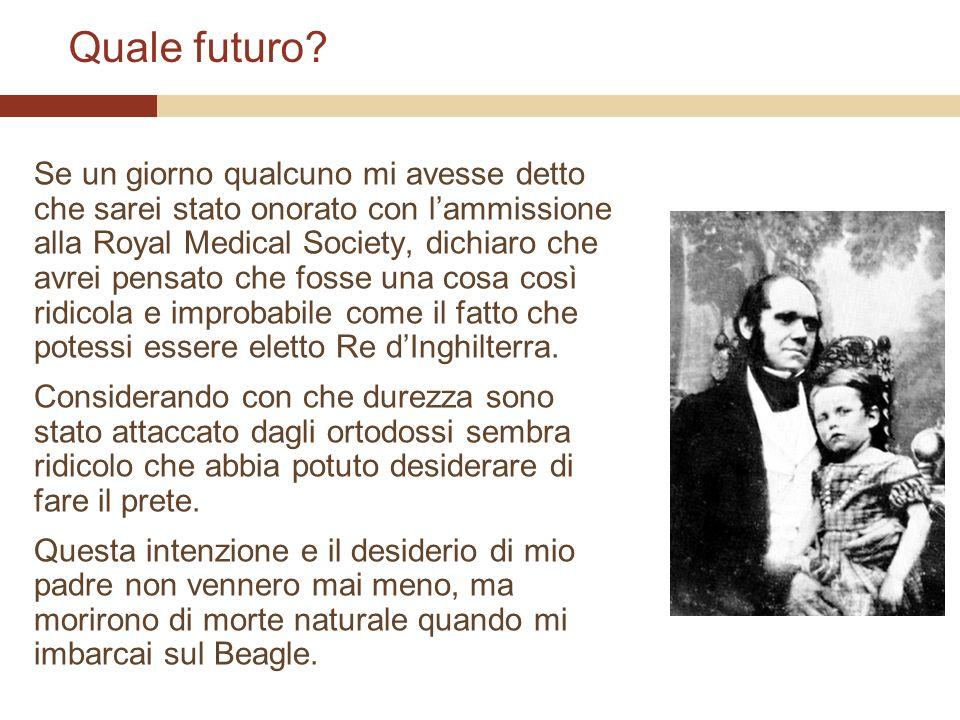 Quale futuro? Se un giorno qualcuno mi avesse detto che sarei stato onorato con lammissione alla Royal Medical Society, dichiaro che avrei pensato che