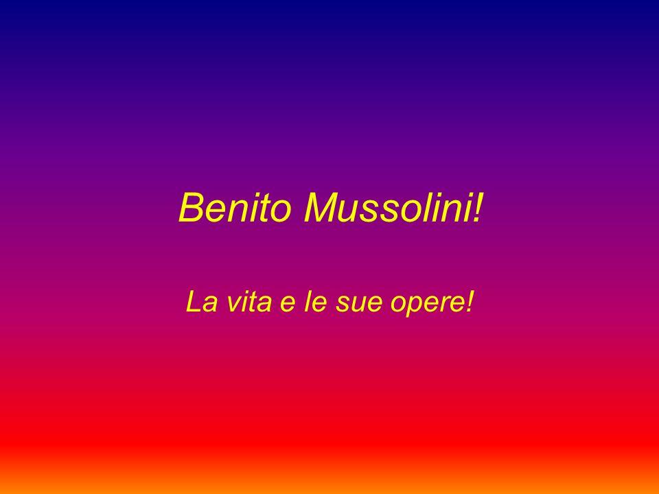 La vita Fondatore del fascismo, fu capo del Governo del Regno d Italia - prima come Presidente del Consiglio dei Ministri, poi come Capo del Governo Primo Ministro Segretario di Stato - dal 31 ottobre 1922 al 25 luglio 1943.
