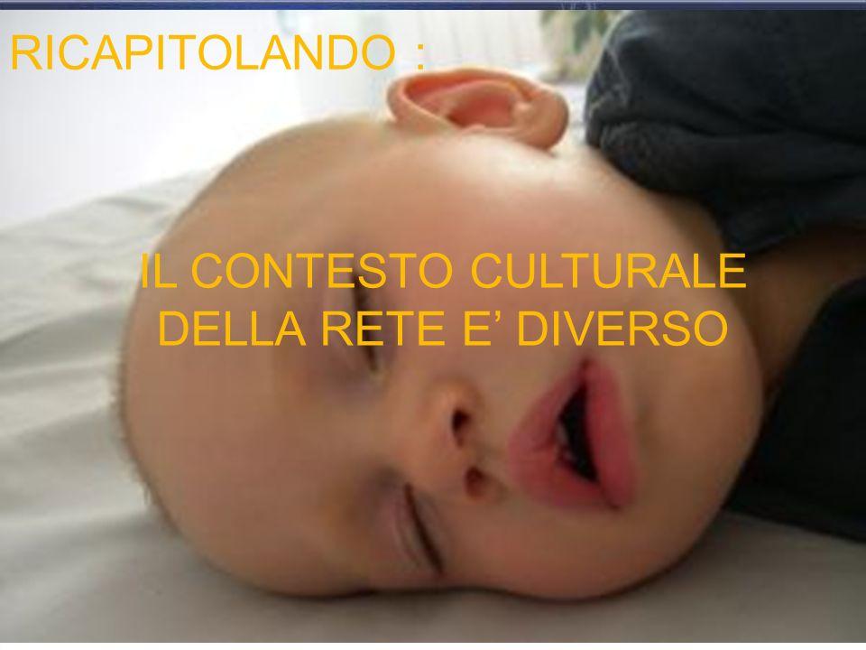 RICAPITOLANDO : IL CONTESTO CULTURALE DELLA RETE E DIVERSO