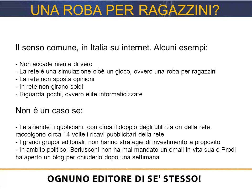 Il senso comune, in Italia su internet.