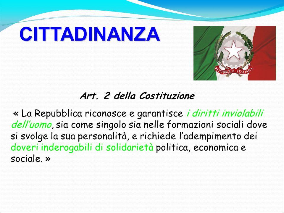 CITTADINANZA Art.