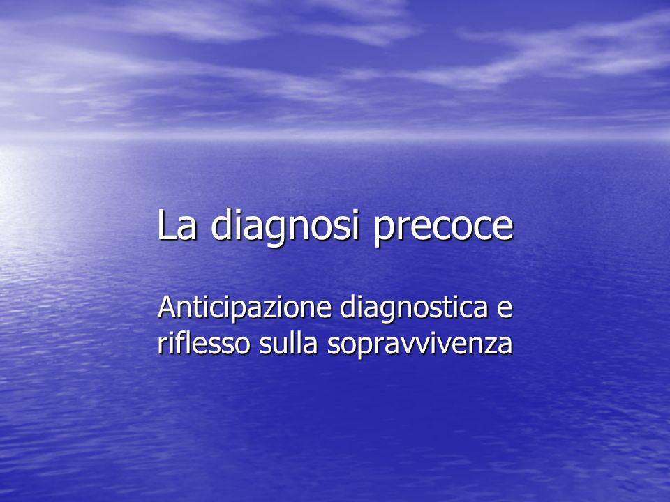 La diagnosi precoce Anticipazione diagnostica e riflesso sulla sopravvivenza