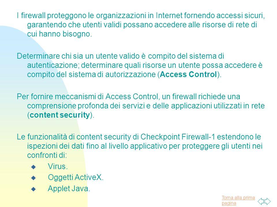 Torna alla prima pagina I firewall proteggono le organizzazioni in Internet fornendo accessi sicuri, garantendo che utenti validi possano accedere alle risorse di rete di cui hanno bisogno.