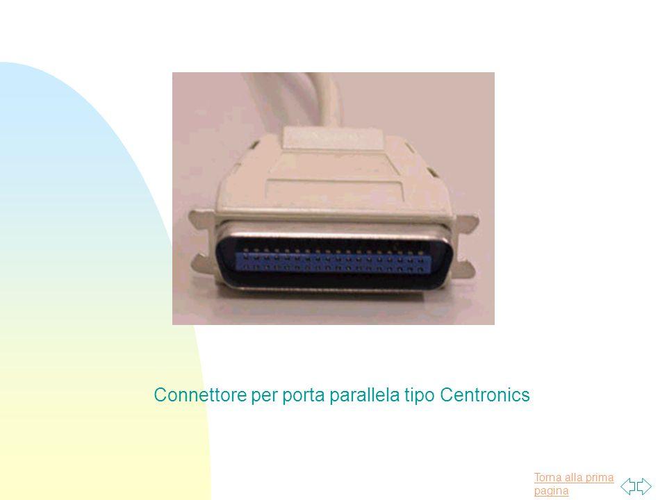 Torna alla prima pagina Connettore per porta parallela tipo Centronics