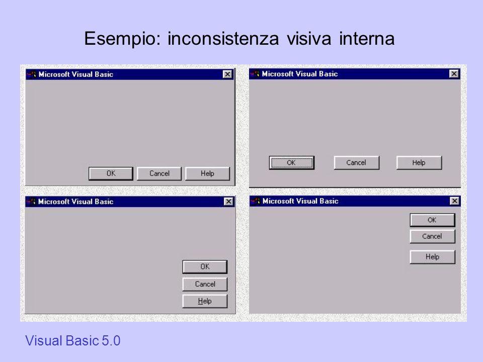 Visual Basic 5.0 Esempio: inconsistenza visiva interna