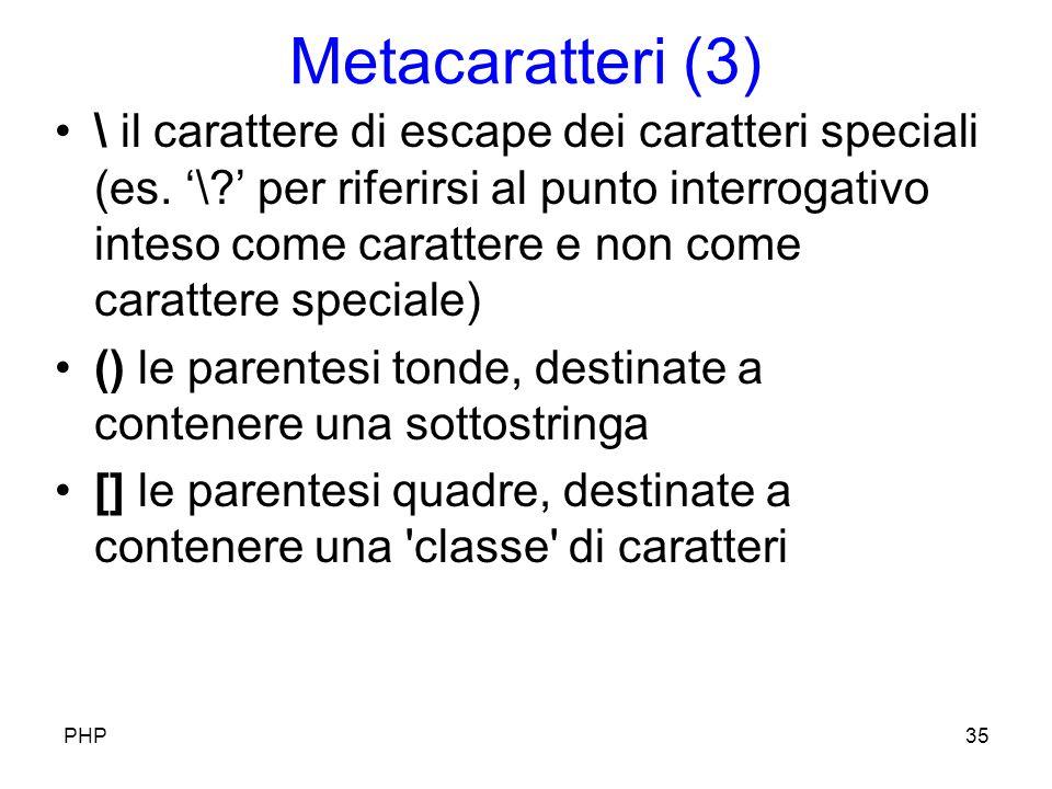 Metacaratteri (3) \ il carattere di escape dei caratteri speciali (es.