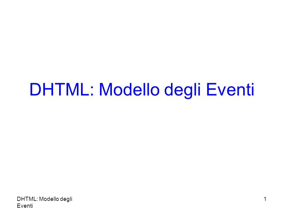 DHTML: Modello degli Eventi 1