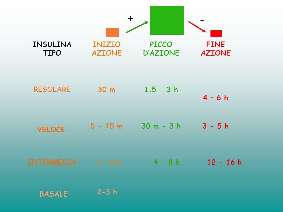 3 iniezioni: N+L colazione L pranzo N prima di andare a dormire Senza diabete Somministrazione con Microinfusore