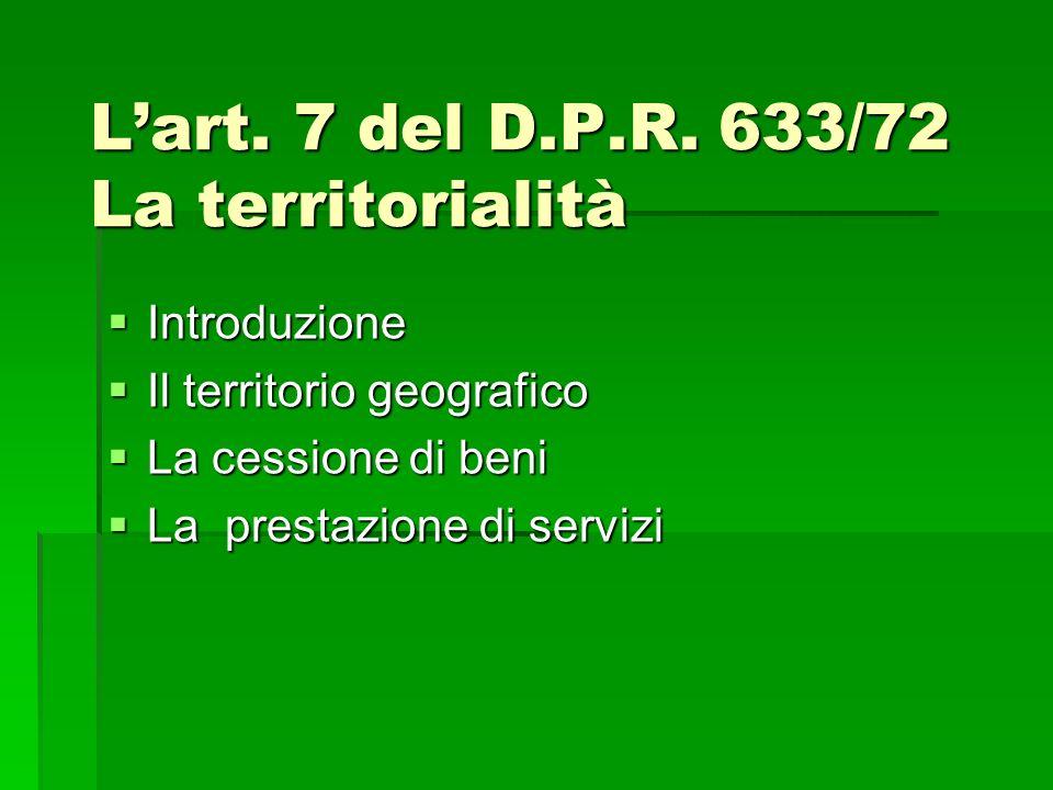 Lart. 7 del D.P.R.