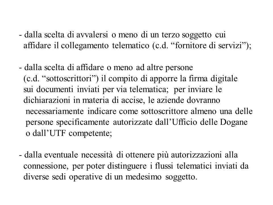 Gestione dellautorizzazione - Obbligo di Comunicazioni.
