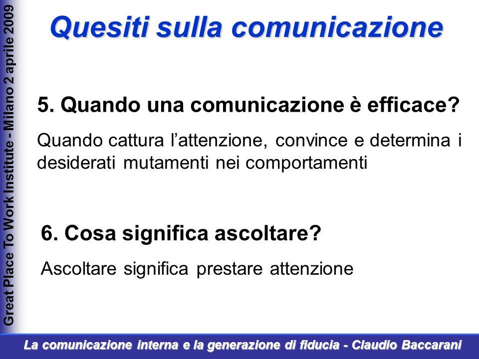 5. Quando una comunicazione è efficace.