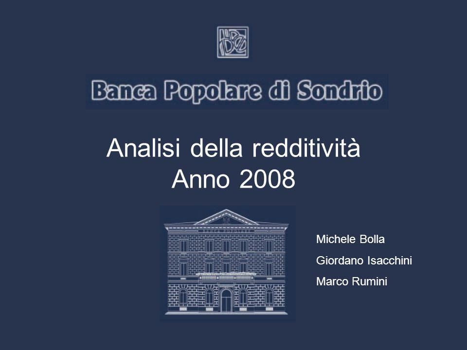 Analisi della redditività Anno 2008 Michele Bolla Giordano Isacchini Marco Rumini