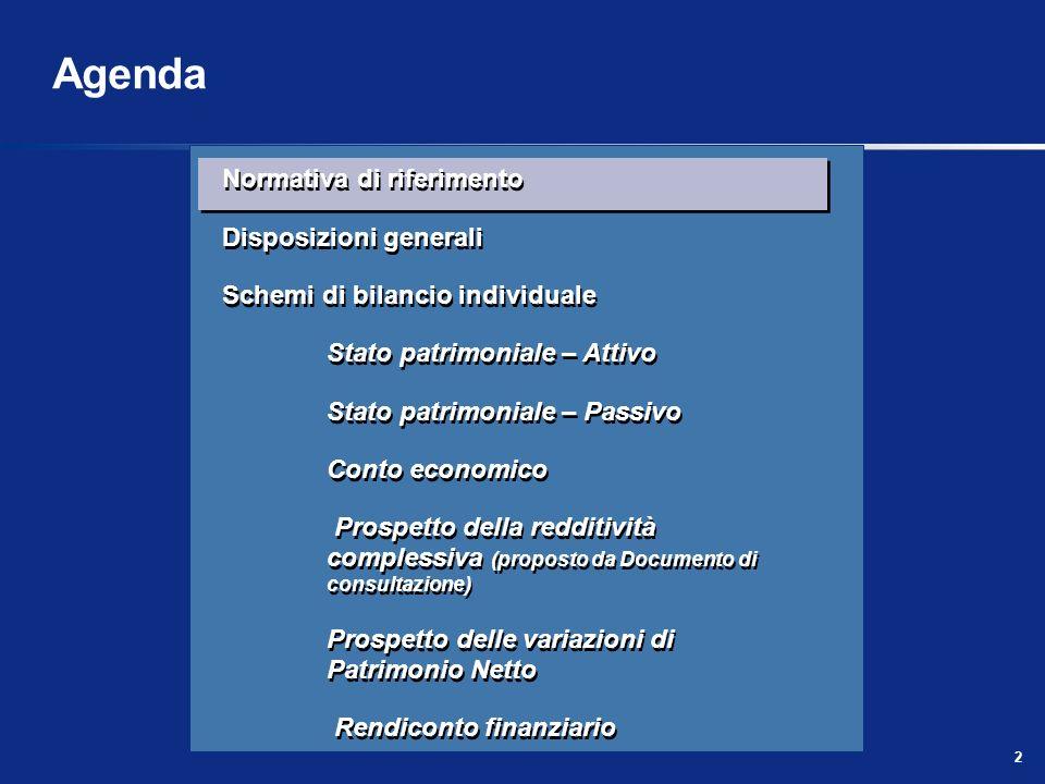 3 Normativa di riferimento La normativa di riferimento per il bilancio delle banche e degli intermediari finanziari è costituita da: Regolamento (CE) n.