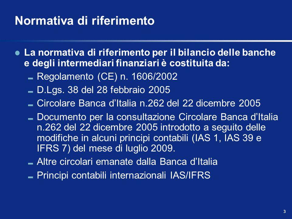 4 Normativa di riferimento Regolamento CE n.1606/2002 Il Regolamento (CE) n.