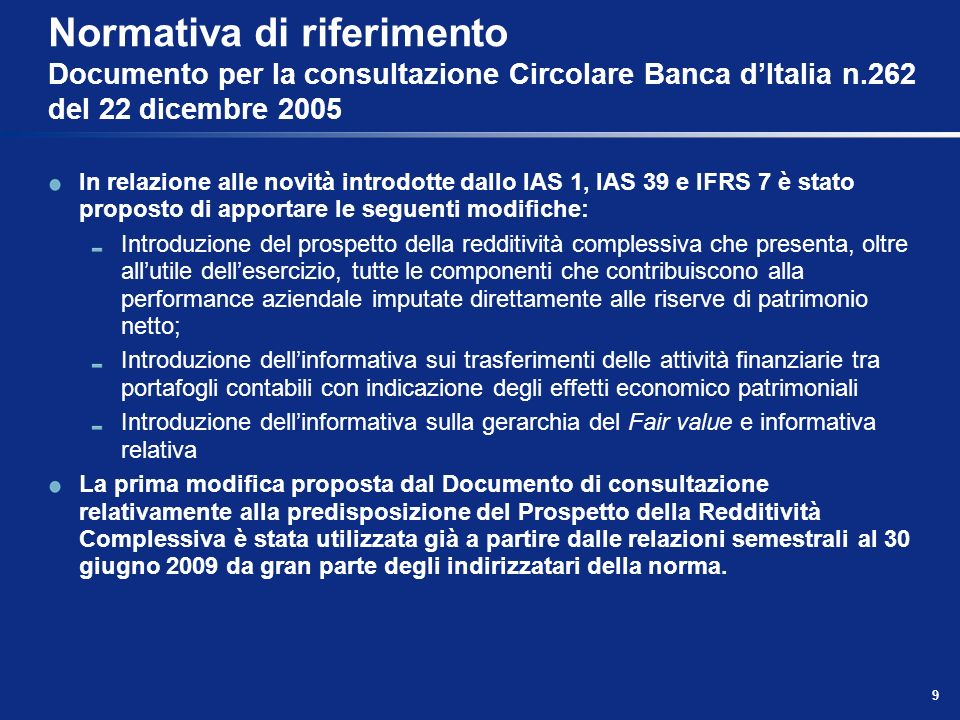 80 Schemi di bilancio individuale Prospetto delle variazioni di Patrimonio Netto (segue)