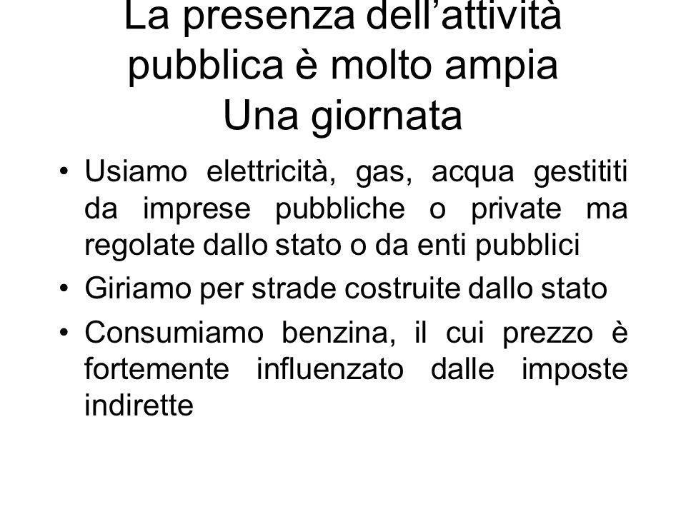 La presenza dellattività pubblica è molto ampia Una vita...