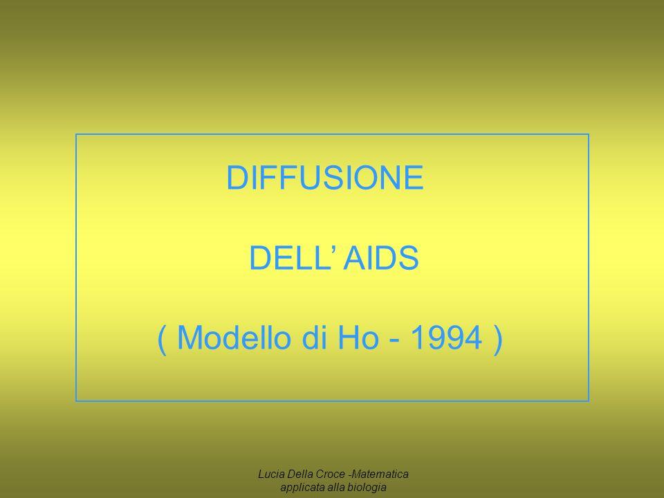 DIFFUSIONE DELL AIDS ( Modello di Ho - 1994 ) Lucia Della Croce -Matematica applicata alla biologia