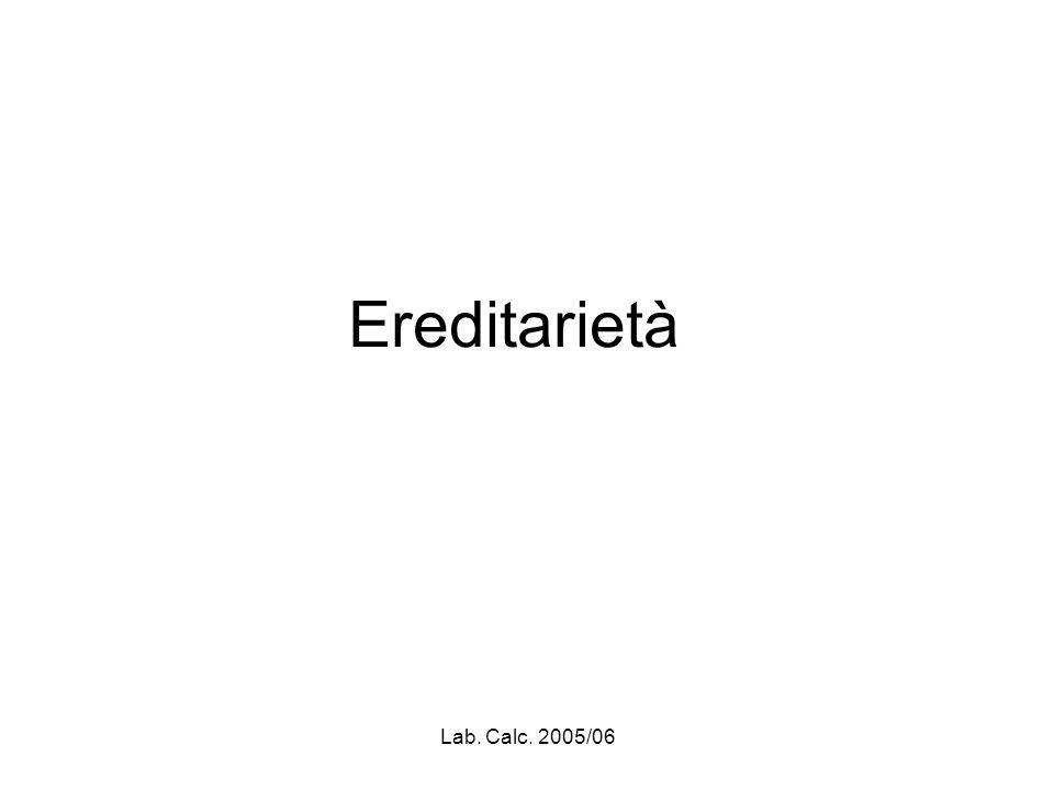 Lab. Calc. 2005/06 Creazione di un oggetto derivato
