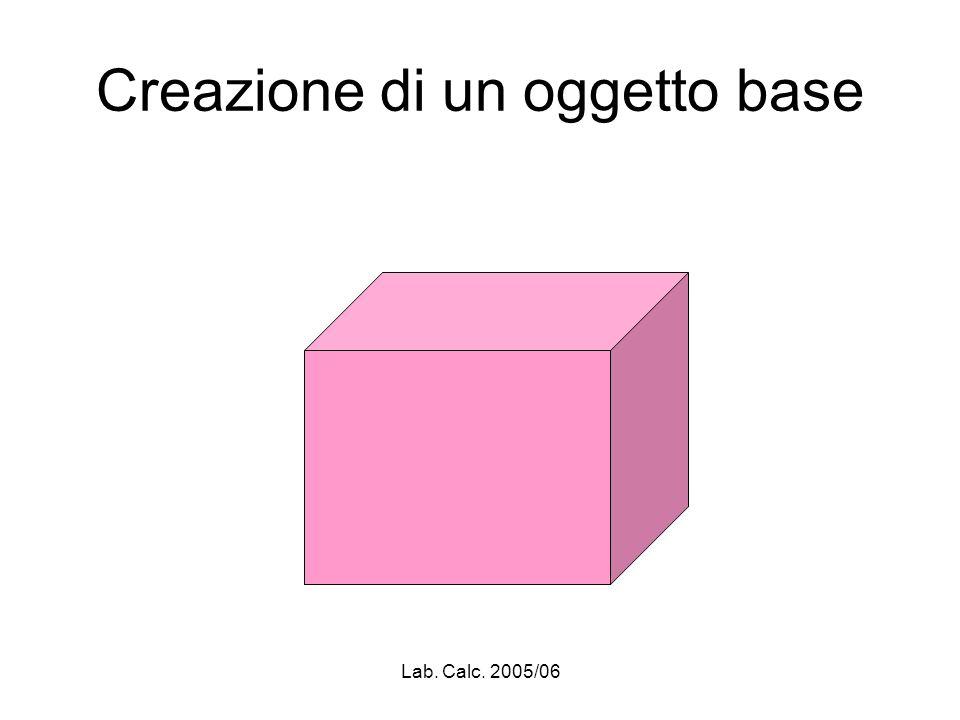 Lab. Calc. 2005/06 Creazione di un oggetto base