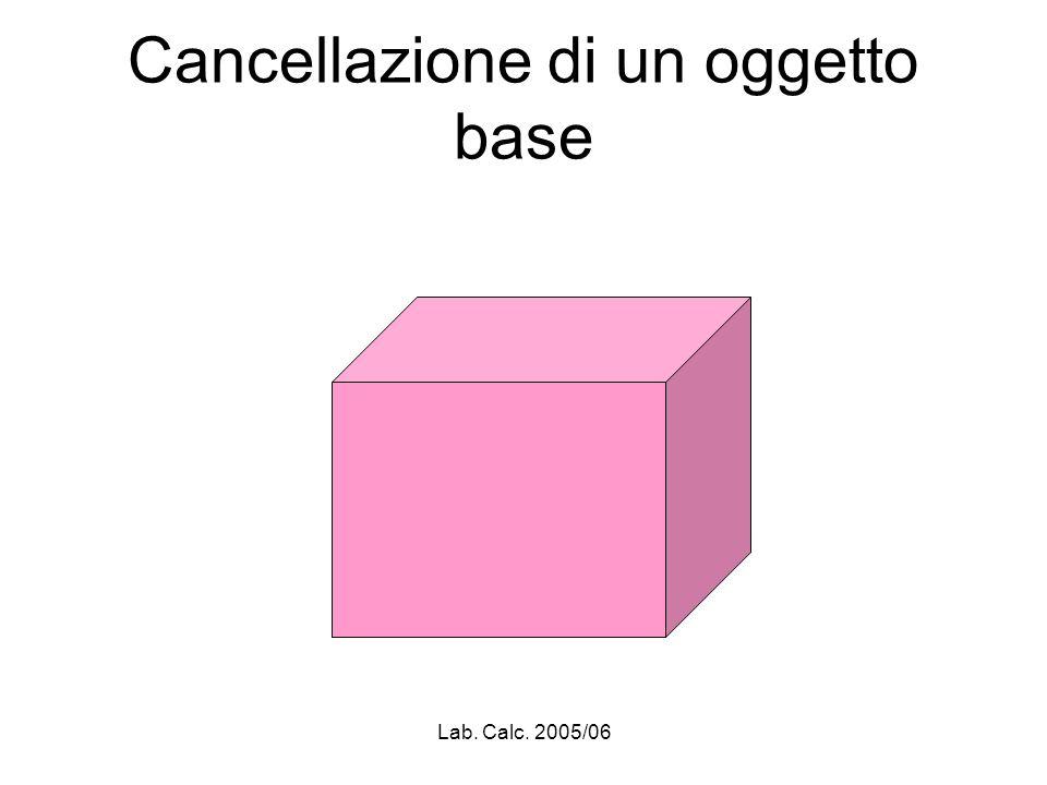 Lab. Calc. 2005/06 Cancellazione di un oggetto base