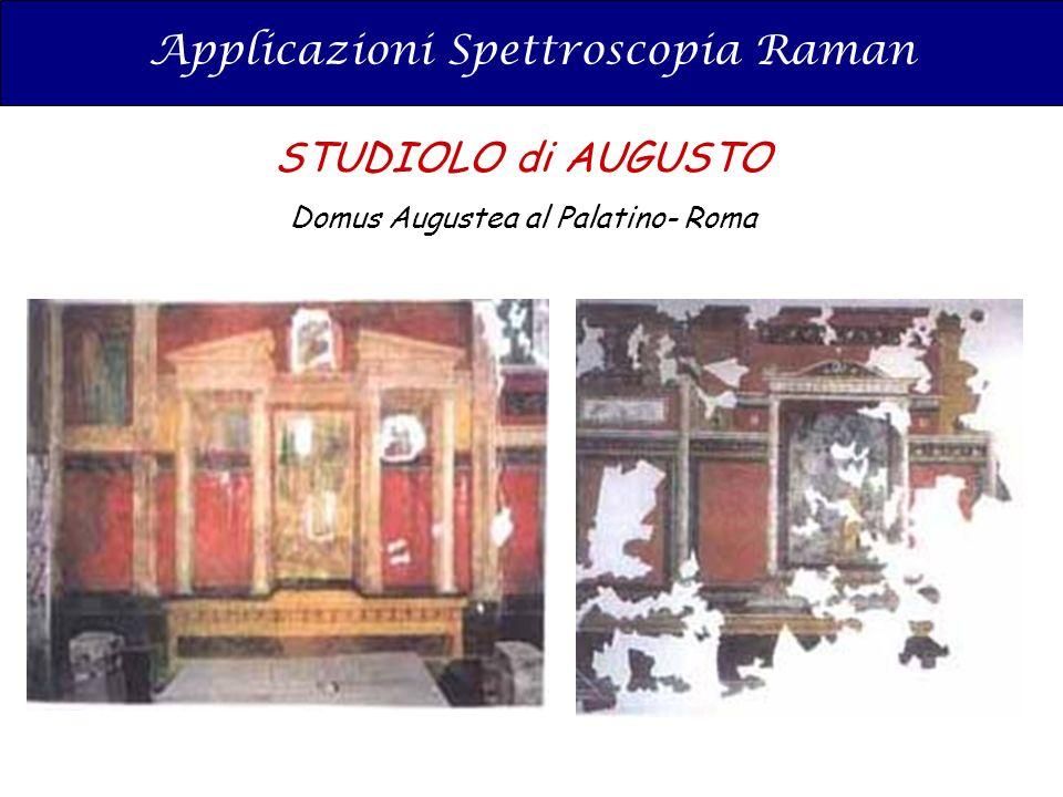 Applicazioni Spettroscopia Raman STUDIOLO di AUGUSTO Domus Augustea al Palatino- Roma
