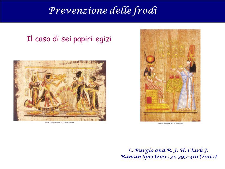 L. Burgio and R. J. H. Clark J. Raman Spectrosc. 31, 395–401 (2000) Prevenzione delle frodi Il caso di sei papiri egizi