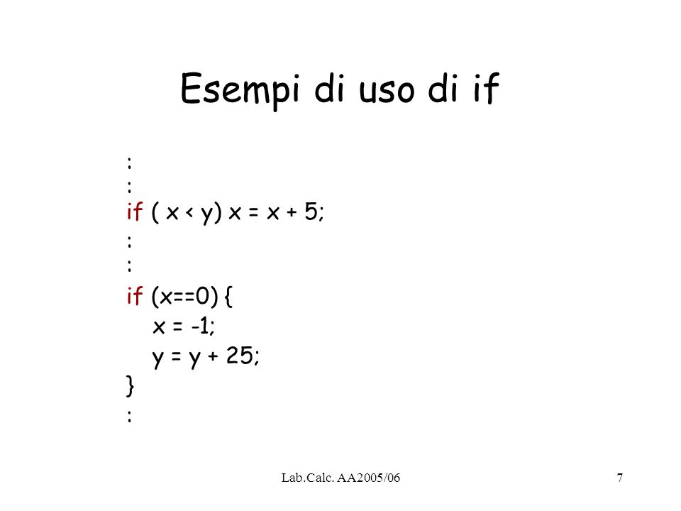 Lab.Calc. AA2005/0628 { int x, y; y = x = 25; {double z; z = 20; } cout<< x + y <<endl; }