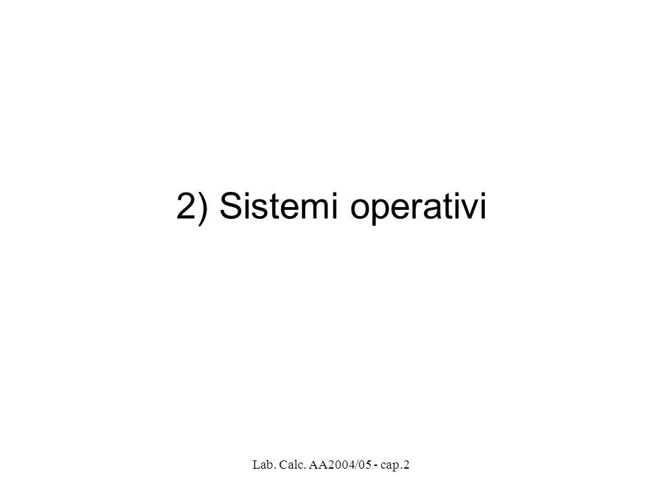 2) Sistemi operativi Lab. Calc. AA2004/05 - cap.2