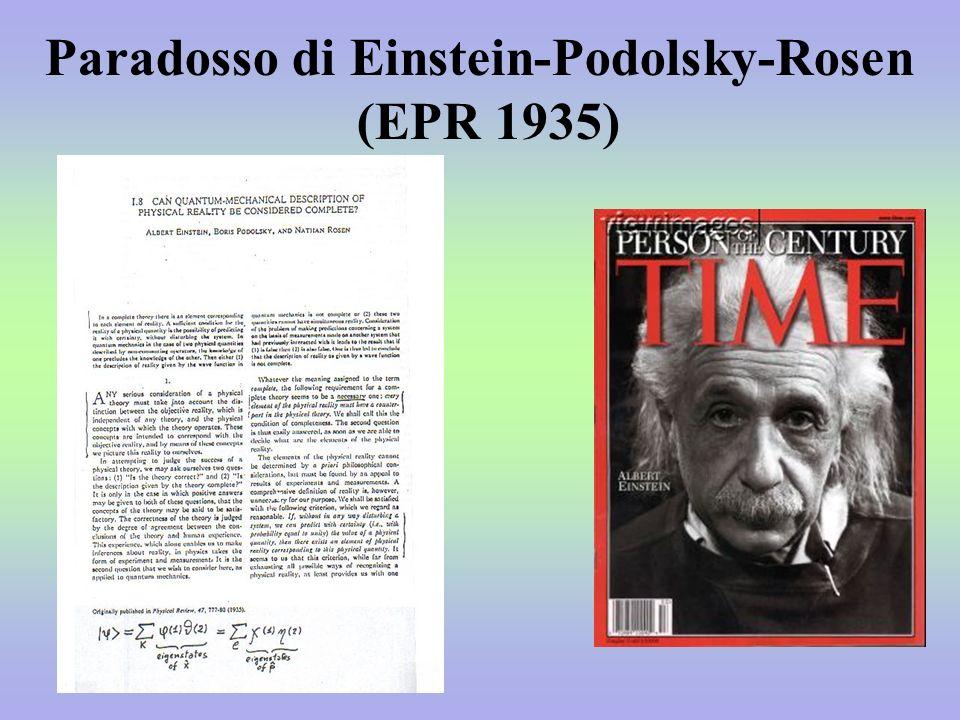 Paradosso di Einstein-Podolsky-Rosen (EPR 1935)